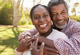 Happy Mature African American Couple at the park